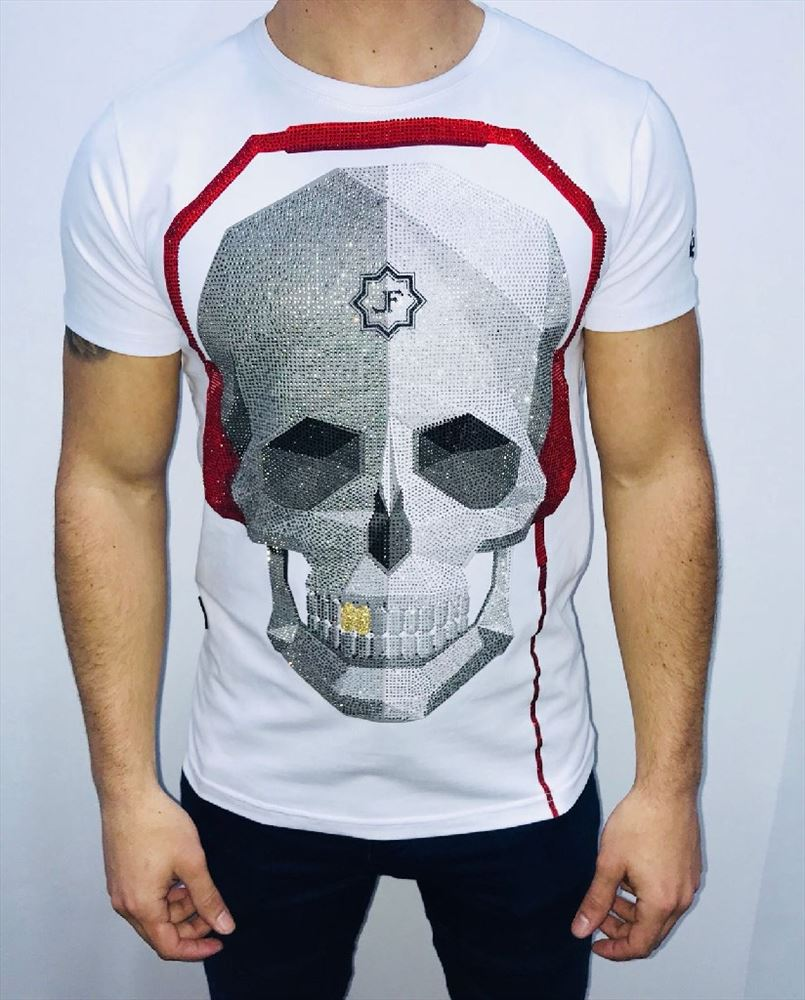 LOCAL FANATIC CAMISETA CALAVERA BLANCA